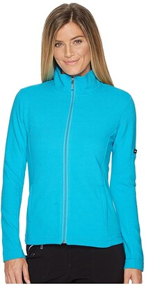Straight Down Swing Jacket (Azul) Women's Coat