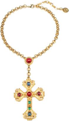Ben Amun Large Cross Pendant Necklace