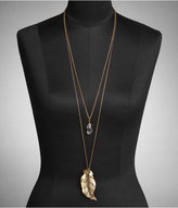 Nested Leaf Pendant Long Necklace