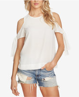 1 STATE 1.STATE Cold-Shoulder Tie-Detail Top
