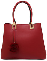 Mkf Collection By Mia K. MKF Collection by Mia K. Women's Handbags - Red & Goldtone Faux Fur-Key Tote