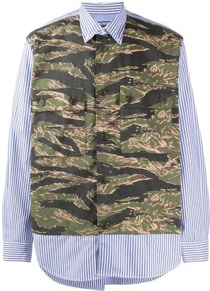 Junya Watanabe Long Sleeve Camouflage Print Shirt