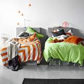 Aura by Tracie Ellis Kids Corner Stripe Quilt Cover, Orange Poppy
