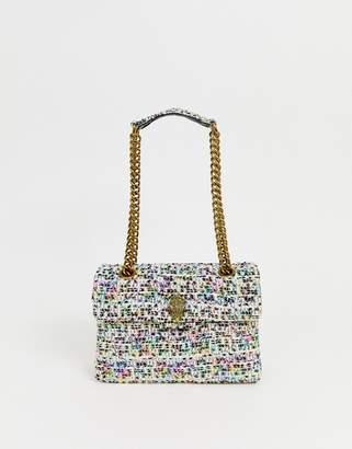 Kurt Geiger London Kensington multi tweed shoulder bag with chain strap