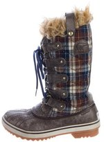 Sorel Quilted Plaid Boots