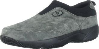 Propet Men's Wash N Wear Slip On Suede Walking Shoe sr Pewter 15 5E US