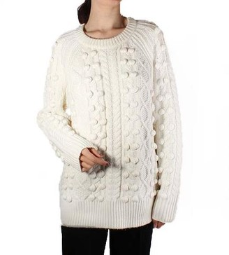 MICHAEL Michael Kors Raglan Cable Knit Long Sleeve Sweater