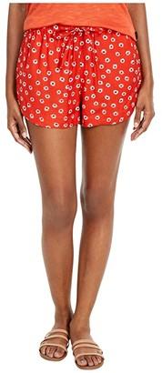 RVCA New Yume Floral (Paprika) Women's Shorts