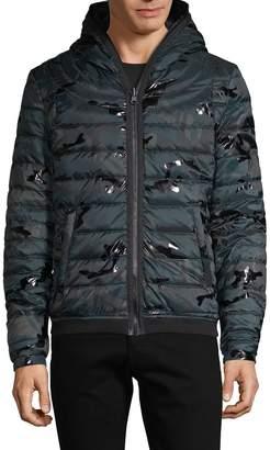 Jet Lag Jetlag Camo-Print Down-Filled Jacket