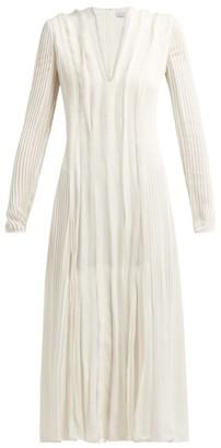 Gabriela Hearst Pearl Pintucked Silk-chiffon Midi Dress - Ivory