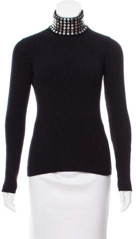 Alexander Wang Embellished Silk Sweater