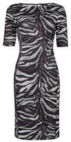 Dorothy Perkins Womens Multi Colour Zebra Print Pencil Dress, Multi Colour