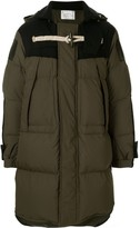 Sacai Toggle Fastening Detail Hooded Coat