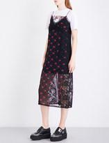 McQ Floral-print silk-crepe de chine midi dress