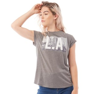 Tokyo Laundry Womens Laurane T-Shirt Mid Grey Marl