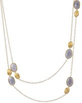"Marco Bicego 18K Yellow Gold and Chalcedony Siviglia Necklace, 36"" - Bloomingdale's Exclusive"