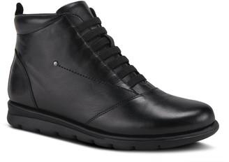 Spring Step Casual Leather Booties - Gloriya
