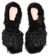 Alberta Ferretti Sheep Fur Mules