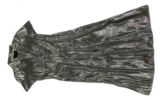 HVN Silver Synthetic Dresses