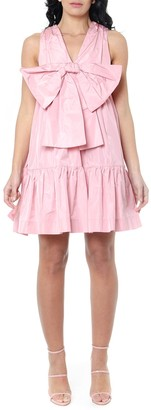 MSGM Pink Ruffled Bow Dress