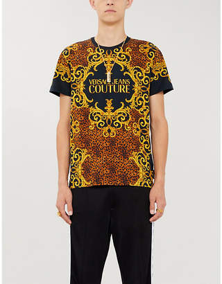 Versace Baroque-print cotton-jersey T-shirt