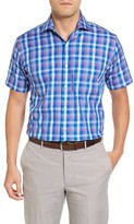 Peter Millar Men's Bay Plaid Spot Shirt