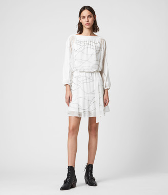 AllSaints Laci Embellished Dress