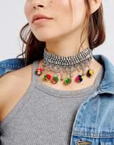 Asos Festival Pom Choker Necklace