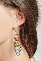 Forever 21 FOREVER 21+ Ring Chain Drop Earrings