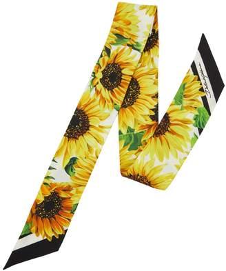 Dolce & Gabbana Sunflower silk neck tie