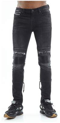 Cult of Individuality Punk Super Skinny Stretch Moto Jeans