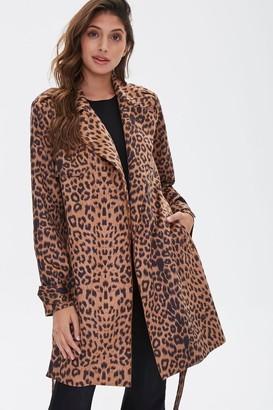 Forever 21 Leopard Print Wrap Jacket