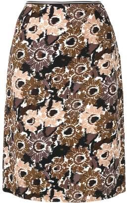 Anteprima sunflower print straight skirt