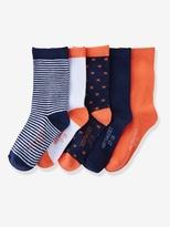 Vertbaudet Girls Pack of 5 Pairs of Ankle Socks