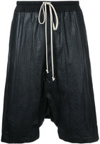 Rick Owens drop-crotch shorts - men - Watersnake Skin - 46