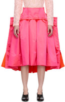 Comme des Garcons Pink Thin Satin Structured Skirt