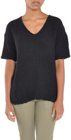 Lacausa Black Linen Tee