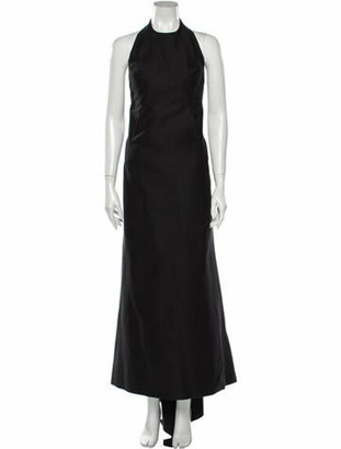 Rick Owens Halterneck Long Dress Black