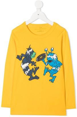 Stella McCartney Kids Music Monsters print T-shirt