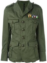 DSQUARED2 'Golden Arrow' military jacket - women - Cotton/Spandex/Elastane - 38