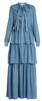 Sonia Rykiel Ruffled denim dress