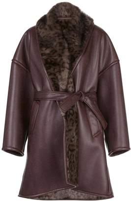 Balenciaga brown cocoon coat