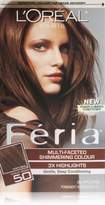 L'Oreal Feria Hair Color, 50 Medium Brown (Packaging May Vary)