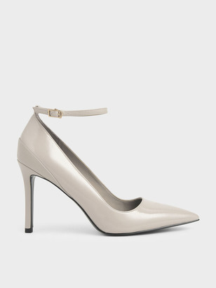 Charles & Keith Wrinkled Patent Pumps