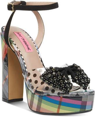 Betsey Johnson Blaise Platform Dress Sandals Women Shoes