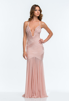 Terani Couture 151P0145A Pearl Embellished Bandage Gown