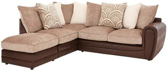 Gatsby Left Hand Single Arm Corner Chaise Sofa + Footstool