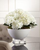 John-Richard Collection John Richard Collection Hydrangea Floral Arrangement in Ceramic & Crystal Pot
