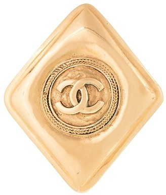 Chanel Pre-Owned 1990-1992 CC logos brooch pin corsage
