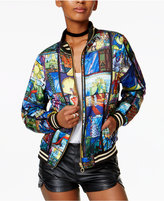 MinkPink Ever After Printed Bomber Jacket